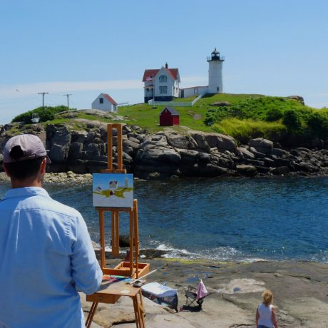 painting lighthouse
